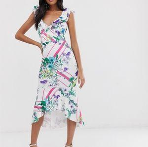 ASOS Ruffle Bodycon Dress Size 4